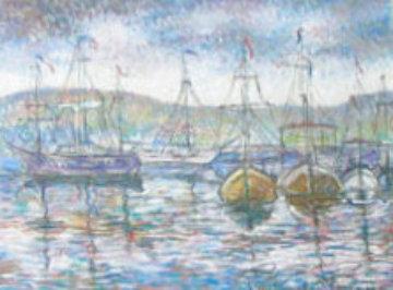 Sur le Port 32x41 Original Painting by Paul Emile Pissarro