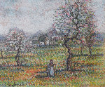 La Cueillette Original Painting - Paul Emile Pissarro