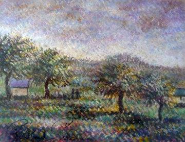 Pre' Verdoyant En Pays D'auge 24x27 Original Painting - Paul Emile Pissarro