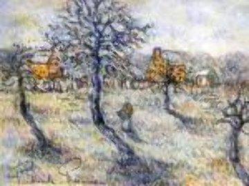 En Hiver 27x31 Original Painting by Paul Emile Pissarro