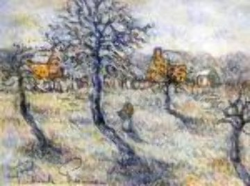 En Hiver 27x31 Original Painting - Paul Emile Pissarro