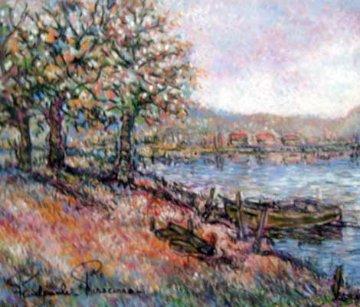 Couleurs  D'Autoumne Pastel 23x27 Original Painting - Paul Emile Pissarro