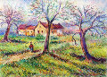 Untitled Pastel Works on Paper (not prints) - Paul Emile Pissarro