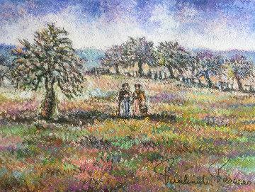 La Normandie En Automne 27x23 Works on Paper (not prints) by Paul Emile Pissarro