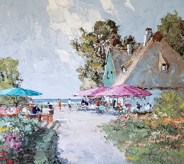 Cafe By the Sea Original Painting - Erich Paulsen