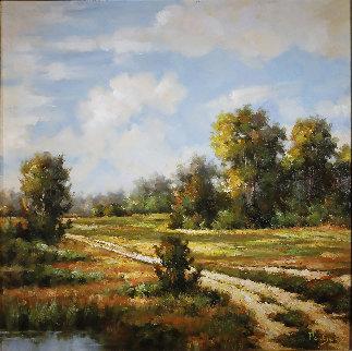 Untitled Landscape 36x36 Original Painting - Erich Paulsen
