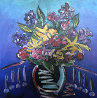 Forever Flowers 1   2018  42x30 Original Painting by Paul Stanley - 0