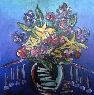 Forever Flowers 1   2018  42x30 Original Painting - Paul Stanley