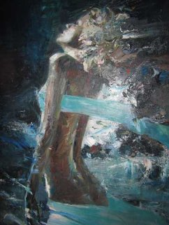 Night Wind 60x40 Super Huge Original Painting - Misti Pavlov