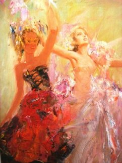 First Ball 2011 48x37 Original Painting by Misti Pavlov