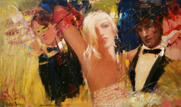 Night At the Ball 2011,27x42 Original Painting by Misti Pavlov