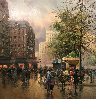 Boulevard 48x48 Original Painting - Emilio Payes