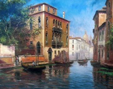Venice 1980 34x40 Original Painting - Emilio Payes