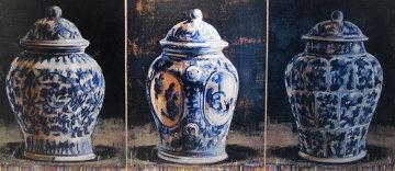 Le Vent Qui Tourne 2004 26x62 Original Painting - Jacques Payette
