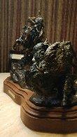 Injun Ways Bronze 1990 29 in Sculpture by Ken Payne - 3