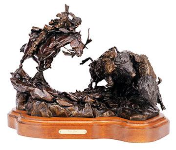 Injun Ways Bronze 1990 29 in Sculpture - Ken Payne