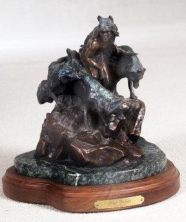 Night Shadows Bronze Sculpture 1988 12 in Sculpture by Ken Payne