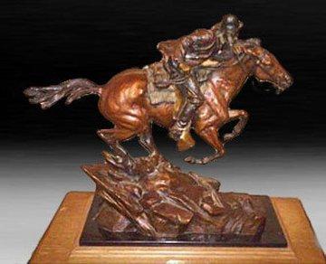 A Race With The Stork Bronze Sculpture 1991 24 in Sculpture - Ken Payne