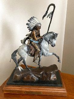 War Horse Bronze Sculpture  1991 18 in Sculpture - Ken Payne