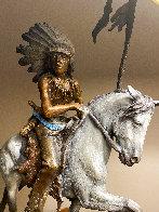 War Horse Bronze Sculpture  1991 18 in Sculpture by Ken Payne - 1