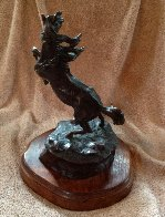 Lord of the Mustangs Bronze Sculpture 14 in Sculpture by Ken Payne - 3