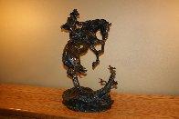 Surprise Meeting Bronze Sculpture 1983 22 in Sculpture by Ken Payne - 4