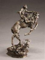 Surprise Meeting Bronze Sculpture 1983 22 in Sculpture by Ken Payne - 0