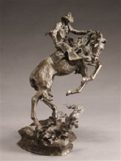 Surprise Meeting Bronze Sculpture 1983 22 in Sculpture by Ken Payne
