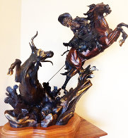 One Stormy Day Bronze Sculpture 1995 31 in Sculpture by Vic Payne - 0