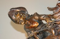 One Stormy Day Bronze Sculpture 1995 31 in Sculpture by Vic Payne - 1