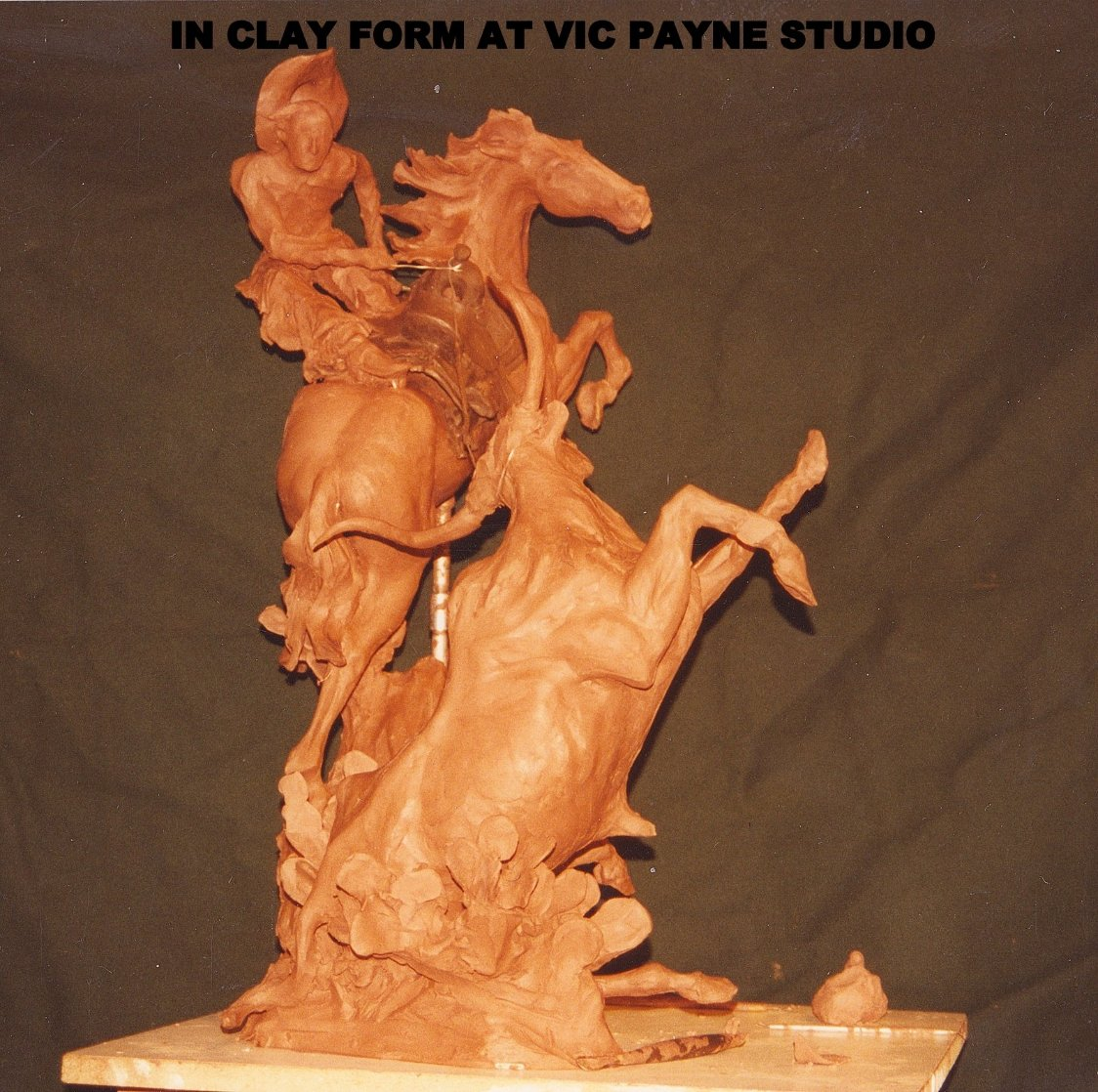 One Stormy Day Bronze Sculpture 1995 31 in Sculpture by Vic Payne