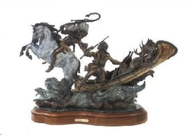 Love of the Wild Places Bronze Sculpture 28x38 Sculpture by Vic Payne