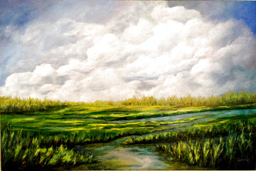 Wetlands 2019 24x36 Original Painting - Connie Pearce
