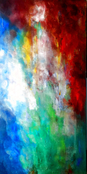 Abstract 2 2020 24x48 Original Painting by Connie Pearce