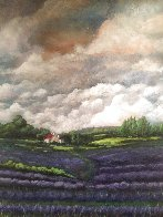 Lavender Field 2019 48x36 Super Huge Original Painting by Connie Pearce - 1