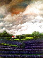 Lavender Field 2019 48x36 Super Huge Original Painting by Connie Pearce - 0