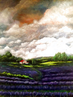 Lavender Field 2019 48x36 Super Huge Original Painting - Connie Pearce