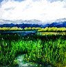 Back Water Pond 2020 24x24 Original Painting by Connie Pearce - 0