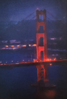 Golden Gate Bridge 2015 24x16 Original Painting - Matthew Peck