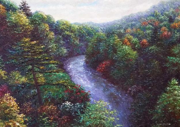 Norwood Rush 30x40 Original Painting by Henry Peeters
