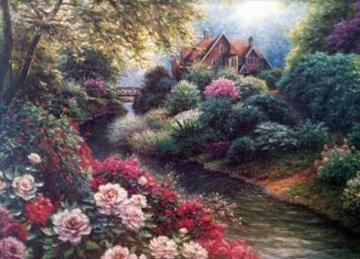 Courtland Manor 1999 24x32 Original Painting - Henry Peeters