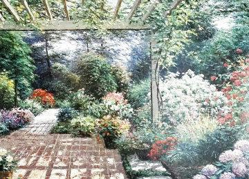 Untitled Painting 1976 50x80 Huge Original Painting - Henry Peeters