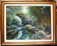 Taunton Stream 2008 46x58 Original Painting by Henry Peeters - 1