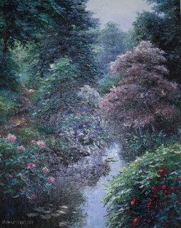 Southerland Trail 2000 38x32 Huge Original Painting - Henry Peeters