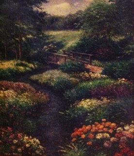 Bergen Stream 39x33 Original Painting by Henry Peeters