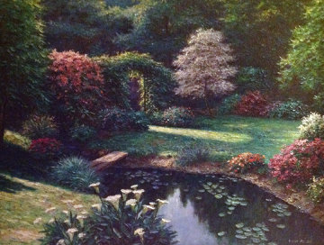 New Dawson Pond 45x57 Super Huge Original Painting - Henry Peeters