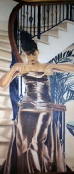 Le Bustier 1999 84x36 Original Painting by Michel Pellus