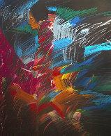 Mujer De Colores Dos 1988 50x30 Super Huge  Original Painting by Amado Pena - 0