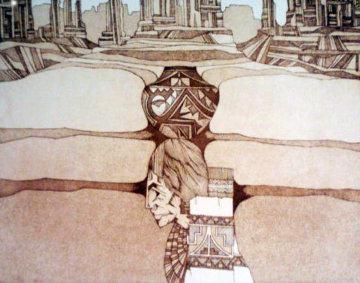 Patrones Del Valle 1987 24x23 Limited Edition Print - Amado Pena