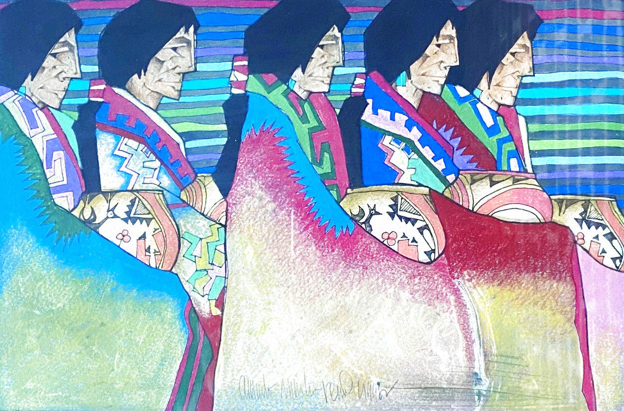 Encuentro De Las Artesanas 1998 17x21 Works on Paper (not prints) by Amado Pena